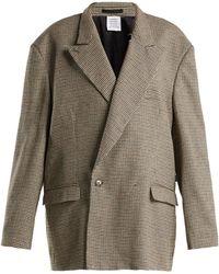 Vetements - Oversized Double Breasted Tweed Blazer - Lyst