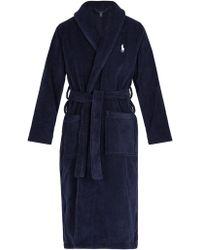Polo Ralph Lauren - Mid Weight Cotton Terry Robe - Lyst