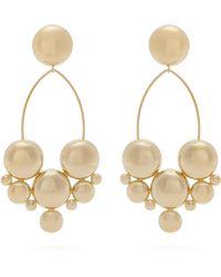 Isabel Marant - Gold Plated Bubble Stud Drop Earrings - Lyst