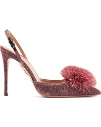 Aquazzura - Powder Puff 105 Glitter Court Shoes - Lyst