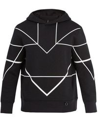 Neil Barrett - Geometric-print Jersey Hooded Sweatshirt - Lyst