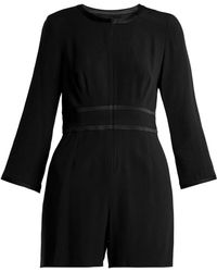 Goat - Fillie Long Sleeved Crepe Cady Playsuit - Lyst