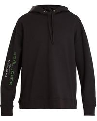 Raf Simons - Printed Cotton-jersey Hooded Sweatshirt - Lyst