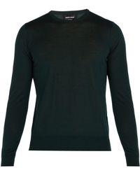 Giorgio Armani - Fine Knit Wool Jumper - Lyst