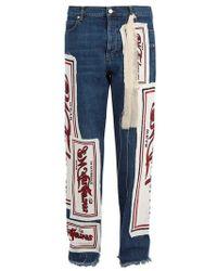 JW Anderson - Printed-appliqué Straight-leg Jeans - Lyst