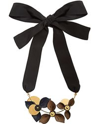 Marni | Floral Leather-petal Self-tie Necklace | Lyst