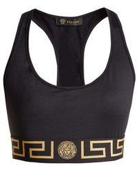 Versace - Greek Key Logo-print Sports Bra - Lyst