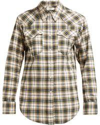Étoile Isabel Marant - Divana Western Check Cotton Shirt - Lyst