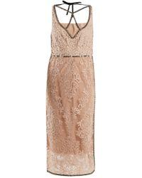 N°21 - Crystal-embellished Floral Lace Dress - Lyst
