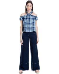 Leon Max - Frayed-hem Wide-leg Jeans - Lyst