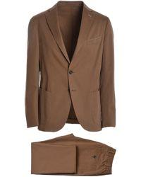Eleventy - Brown Cotton Suit - Lyst