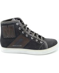 Marc Jacobs - Brown Leather Hi Top Sneakers - Lyst