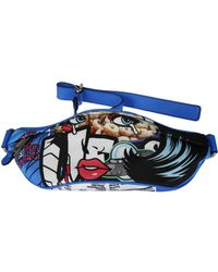 Moschino - Blue Cotton Travel Bag - Lyst
