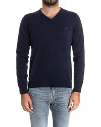 Sun 68 - Blue Cotton Sweater - Lyst