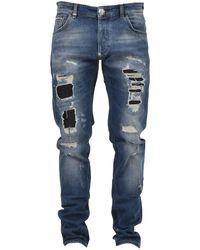 Philipp Plein Blue Cotton Jeans