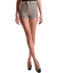 Liu Jo - Grey Cotton Shorts - Lyst