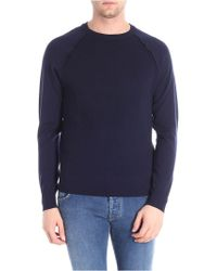 Paolo Pecora - Blue Cotton Sweater - Lyst