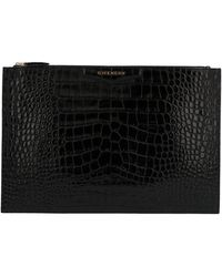 Givenchy Black Leather Clutch