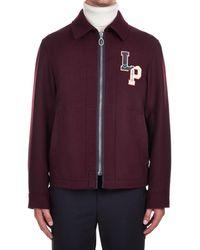 Lanvin Burgundy Wool Outerwear Jacket - Purple