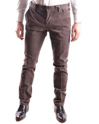 AT.P.CO - Brown Cotton Trousers - Lyst