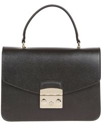 Furla - Black Leather Handbag - Lyst
