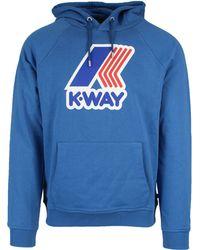 K-Way - Blue Cotton Sweatshirt - Lyst