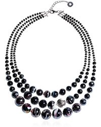 Antica Murrina - Black Steel Necklace - Lyst