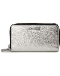 Calvin Klein - Silver Polyurethane Wallet - Lyst