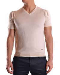 CoSTUME NATIONAL - White Silk T-shirt - Lyst