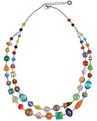 Antica Murrina - Multicolour Metal Necklace - Lyst