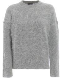 Jacob Cohen - Grey Wool Sweater - Lyst