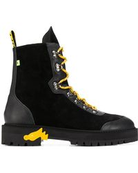 Off-White c/o Virgil Abloh - Black Leather Ankle Boots - Lyst