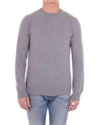 Andrea Fenzi - Grey Wool Sweater - Lyst