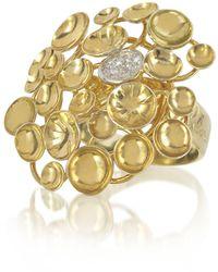 Orlando Orlandini - 18k Yellow Gold Large Bouquet Ring W/diamond - Lyst