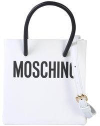 Moschino White Leather Handbag