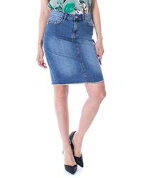 9a321b038a ONLY New Farrah A-line Denim Skirt in Blue - Lyst