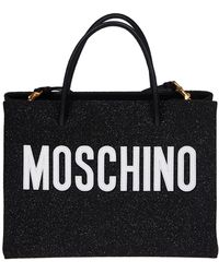 2293e1a17c6 Moschino 'letters' Bucket Bag in Black - Lyst