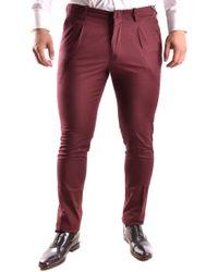 Michael Kors - Burgundy Cotton Pants - Lyst