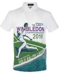 Ralph Lauren - White Cotton Polo Shirt - Lyst