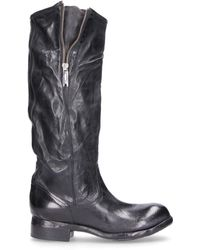 LEMARGO - Black Leather Boots - Lyst