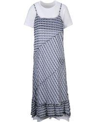 Comme des Garçons - Blue Cotton Dress - Lyst