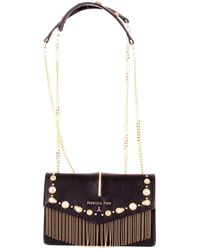 Patrizia Pepe - Black Leather Shoulder Bag - Lyst