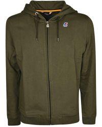 K-Way - Green Cotton Sweatshirt - Lyst