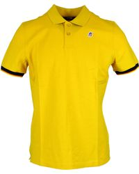 K-Way - Yellow Polyester Polo Shirt - Lyst