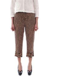 Twin Set Beige Polyester Trousers