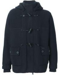 Bark Blue Polyamide Coat