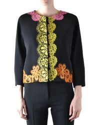 c4dd13dc0 Gucci Sequin Embroidered Acetate Bomber in Pink - Lyst