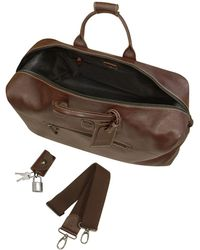 Bric's - Brown Leather Travel Bag - Lyst