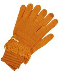 Michael Kors Orange Wool Gloves