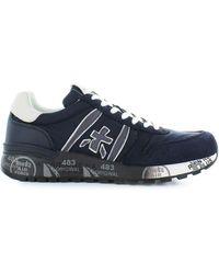 Premiata Blue Suede Sneakers